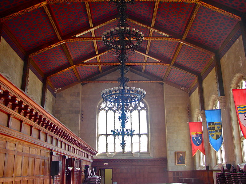 The Great Hall is used for performances and lectures. It previously served as the library's main reading room.