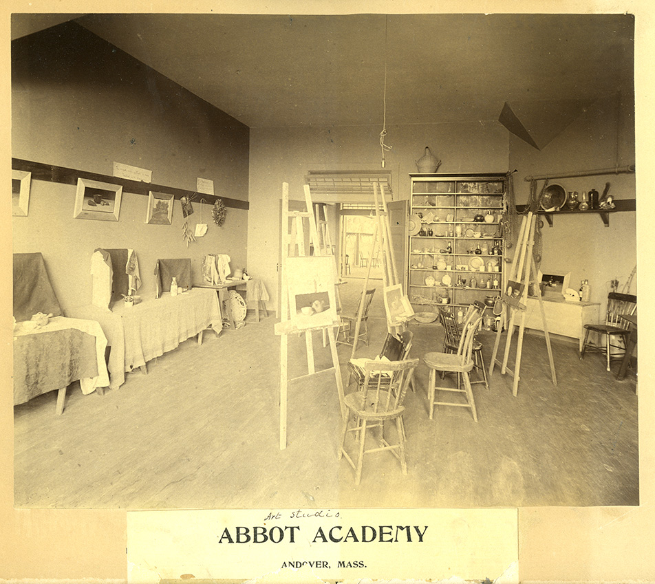 Draper Hall, art studio, 1892