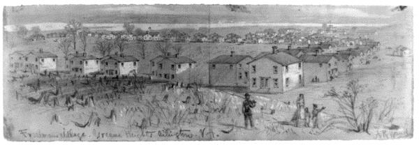 Freedmen's Village at Greene Heights (image from www.objectofhistory.com)