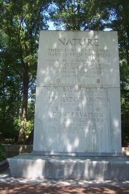 (photo by Richard E. Miller, Historic Marker Database) Panel 1: NATURE