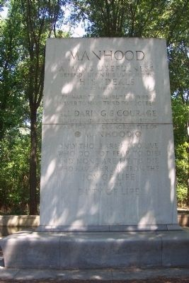 (photo by Richard E. Miller, Historic Marker Database) Panel 2: MANHOOD