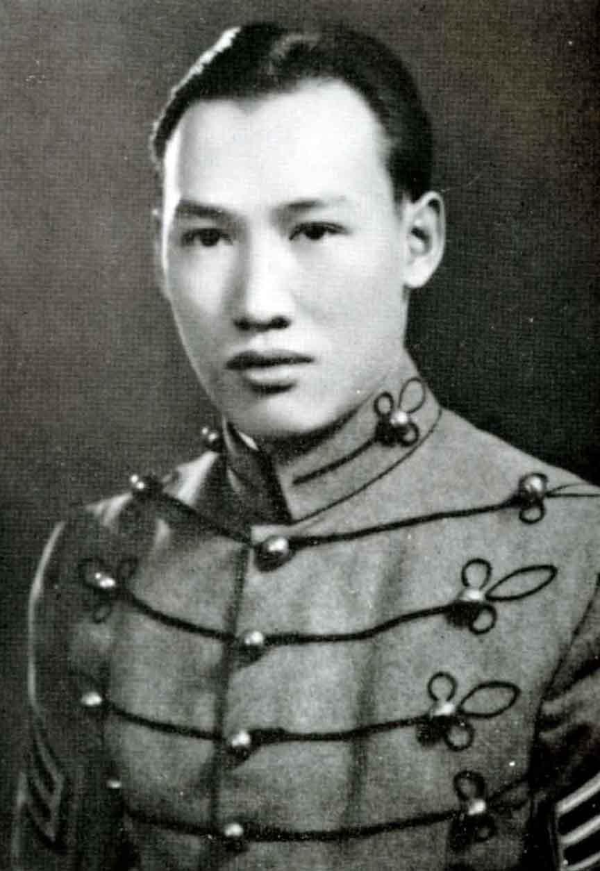 Lt. Kimlau, 1942 (image from http://pennsylvaniamilitarycollege.org/class-1942-2/)