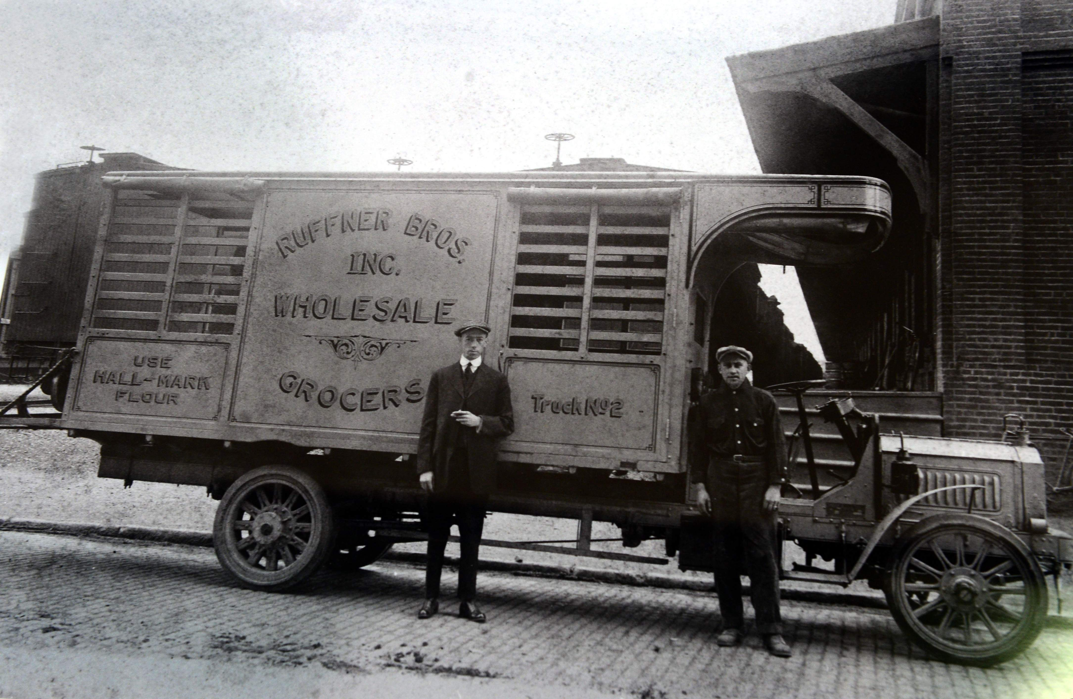 Ruffner Brothers Grocery Truck in Charleston, 1920s