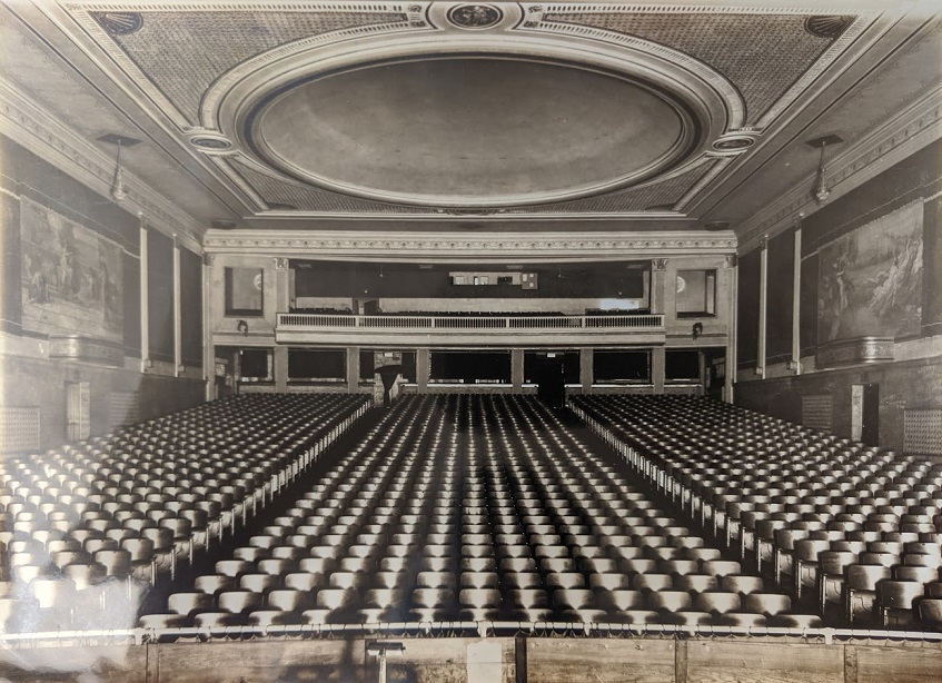 Interior seating of original Gloria theater.