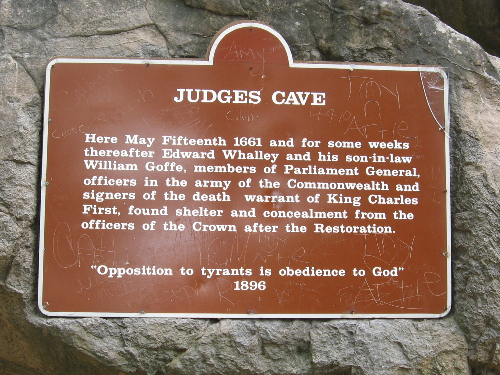 Judges Cave Marker