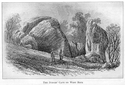 Depiction of the Judges in hiding at the rock formation