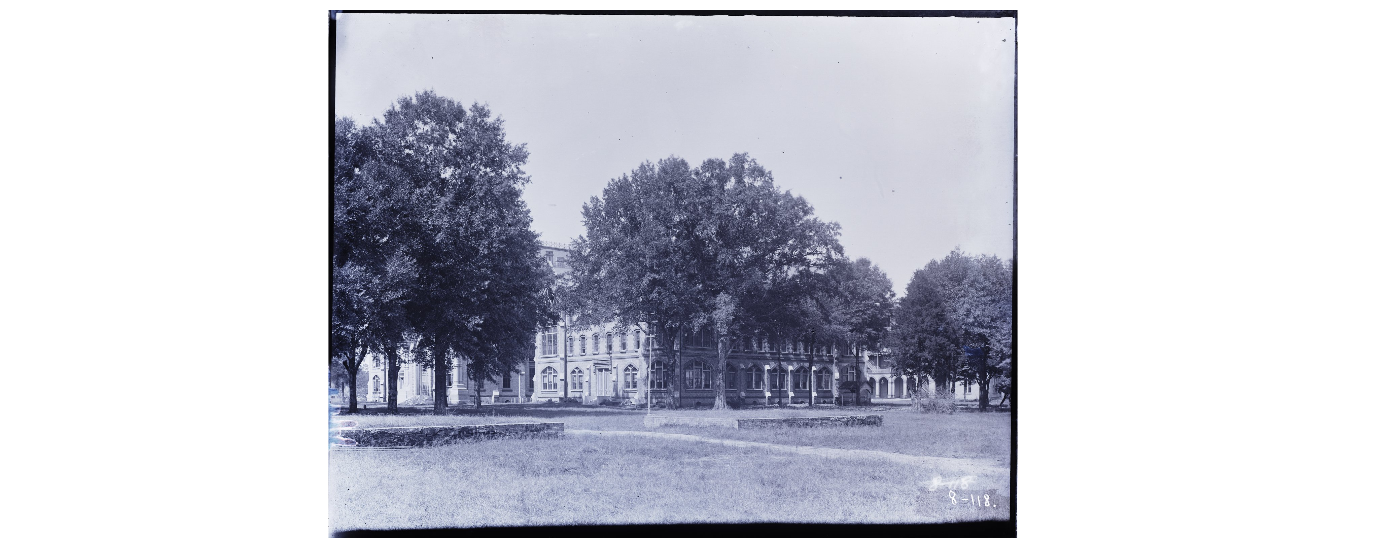 View of Manly Hall from Southwest view. Photo by Eugene Allen Smith (1841-1927)