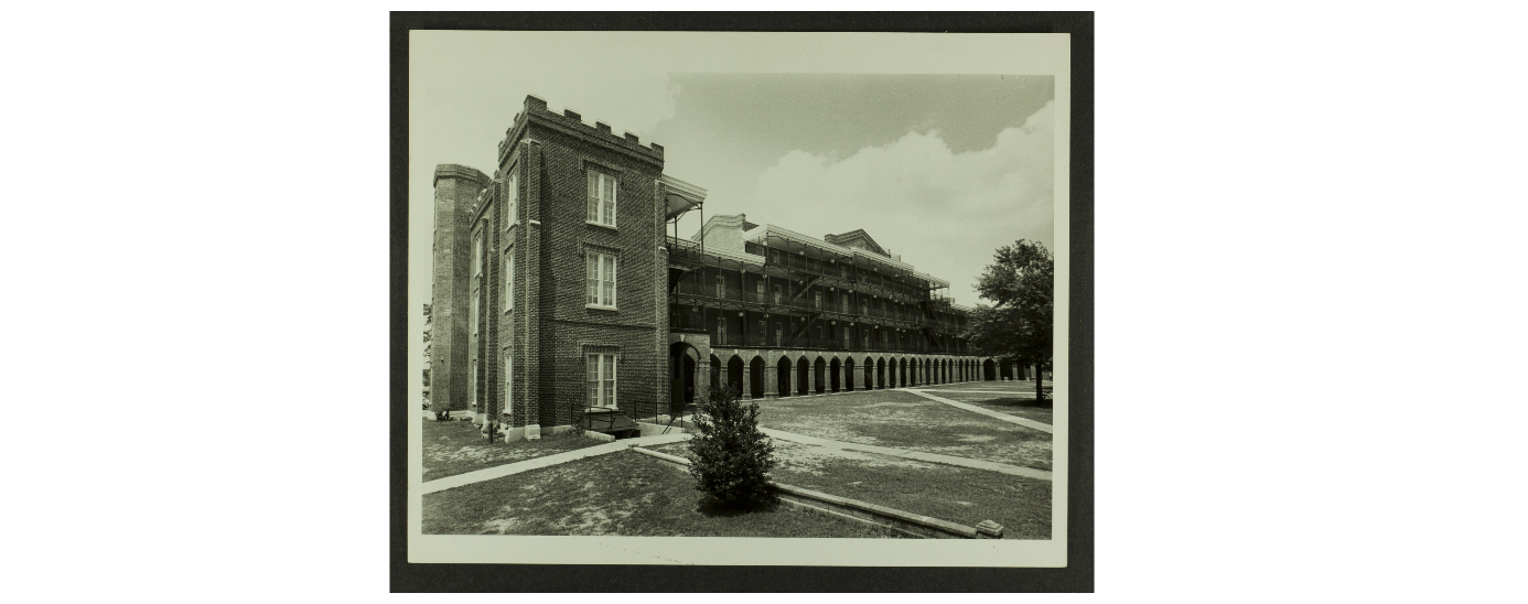 Woods hall after Reconstruction in 1975