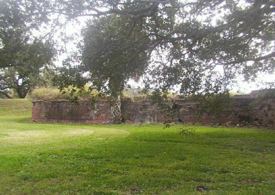 One of the brick walls of the fort in 2007. (Nancy Brister)