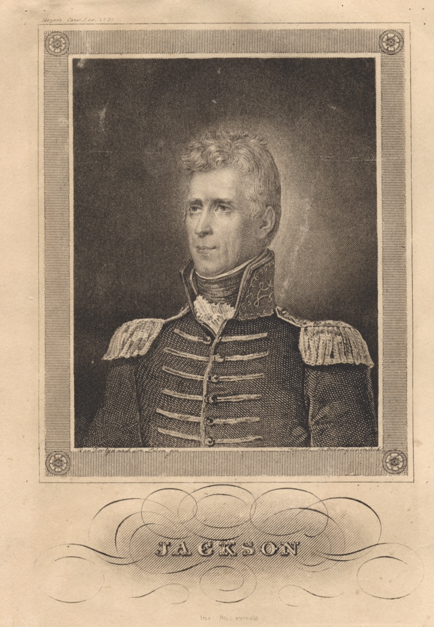 Circa 1820 portrait of Andrew Jackson by John Vanderlyn. Courtesy of the Collections of the Louisiana State Museum.