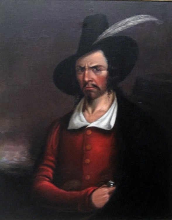 A portrait supposedly of Jean Laffite painted by Anonymous. Courtesy of Rosenberg Library, Galveston, Texas.