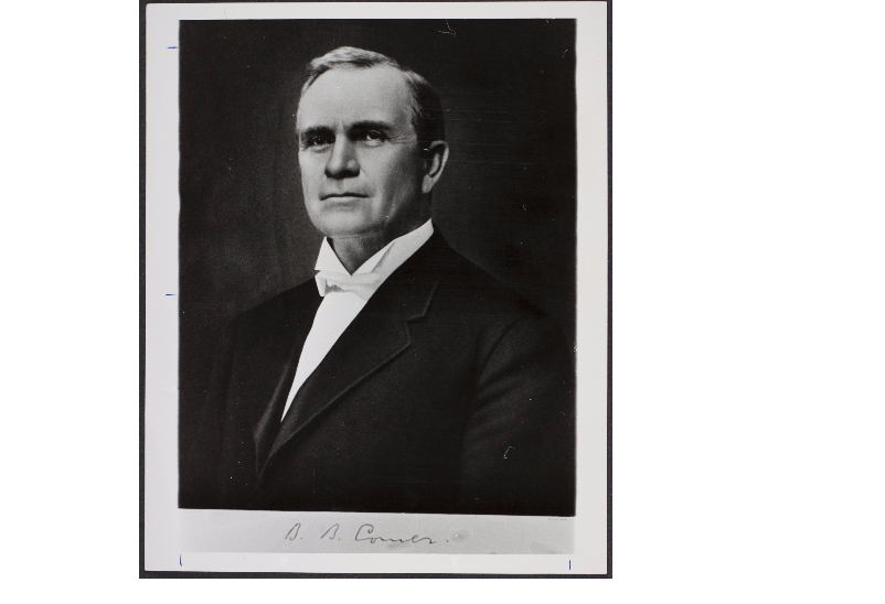 This is a portrait taken in 1908 of B.B Comer 33rd government for the state of Alabama