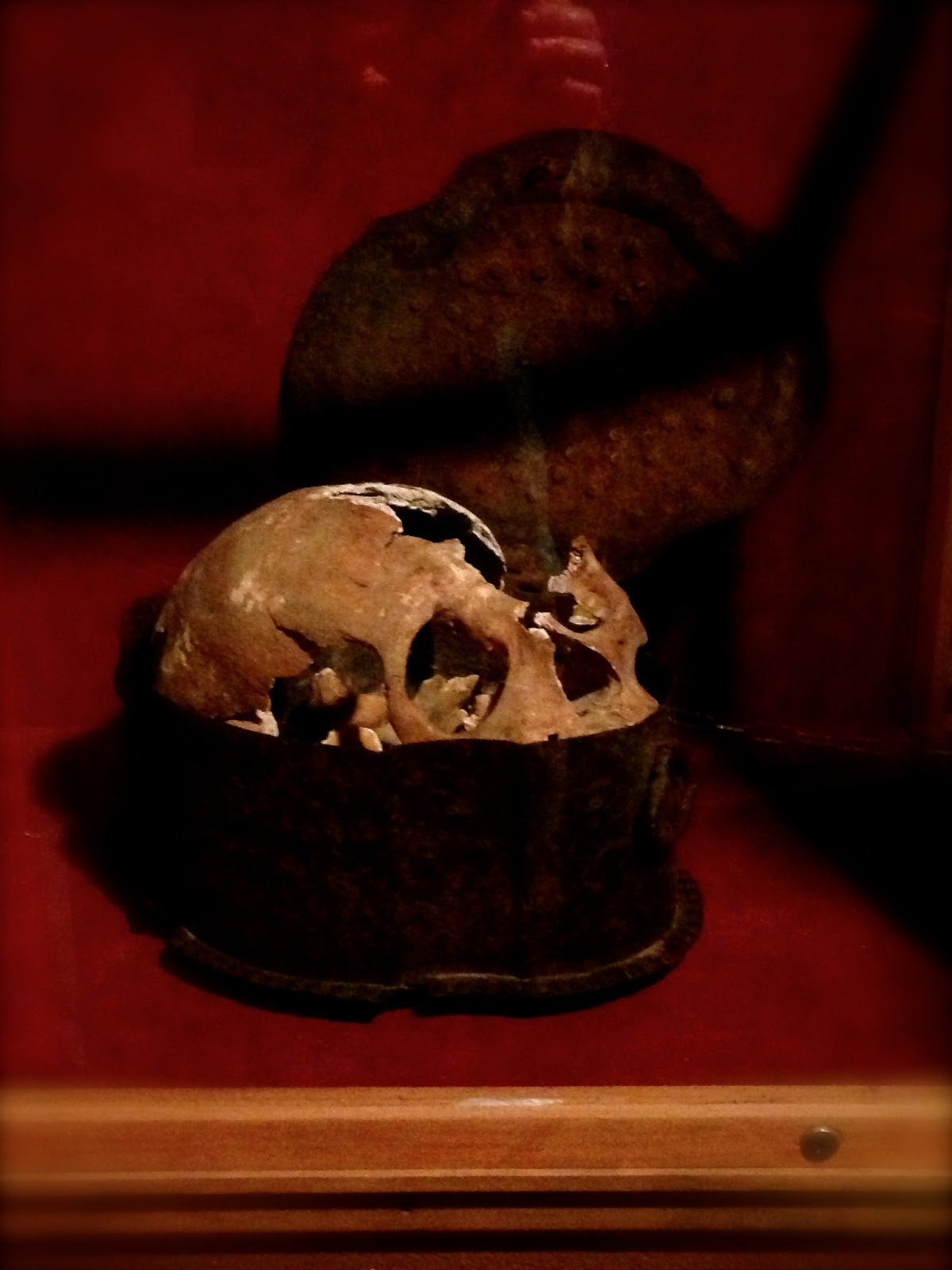 The skull of one of Christopher Columbus' crew members and one of Hammond's most prized possessions (photo courtesy of New England Folklore)