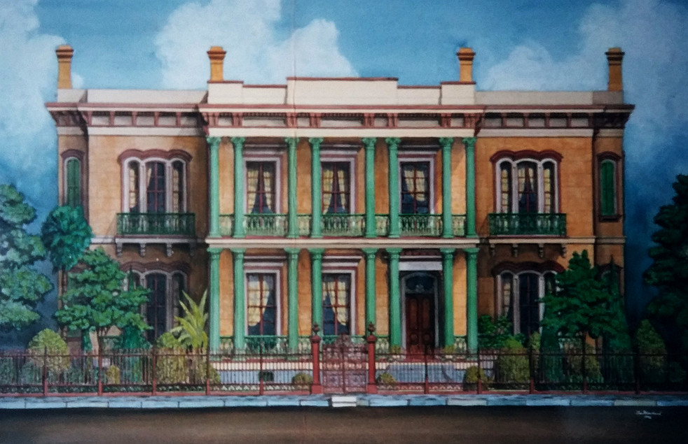 An illustration of the house on Esplanade