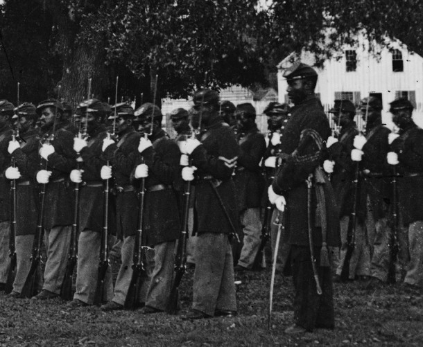 Detailed view of the 29th Regiment Connecticut Volunteers, Beaufort, South Carolina  - Library of Congress, Prints and Photographs Division