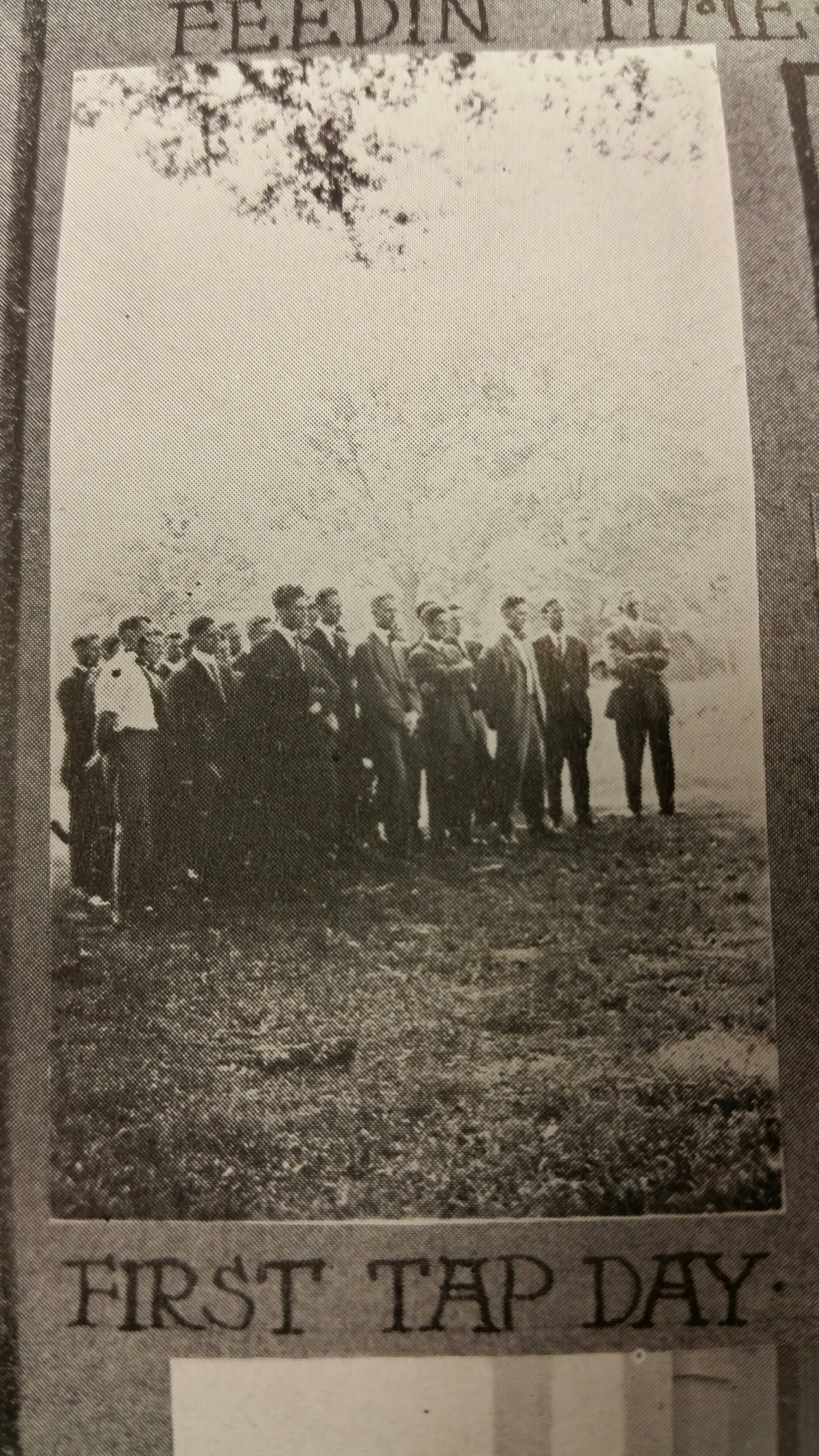"""Photo from the 1915 University of Alabama Corolla, captioned """"First Tap Day."""" Photo from Hoole Special Collections Library, Tuscaloosa, Alabama."""