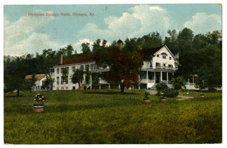 Olympian Springs Hotel postcard (image from Kentucky Historical Society)