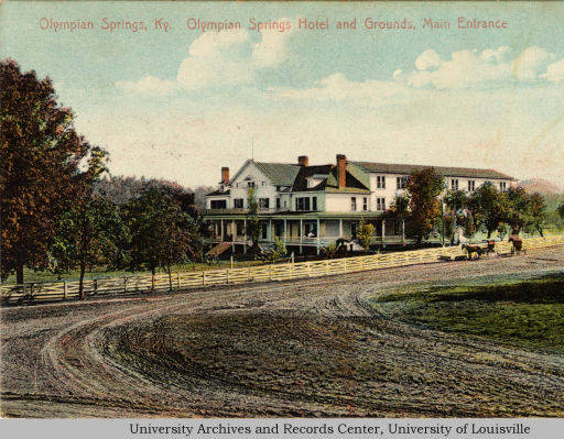 Olympian Springs Postcard circa 1909 (image from http://digital.library.louisville.edu/cdm/ref/collection/ulua001/id/150)