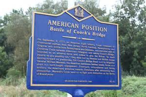 Battle of Cooch's Bridge Marker