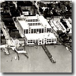 Aerial view of the NTS, circa 1920 (image from the Torpedo Factory Art Center)