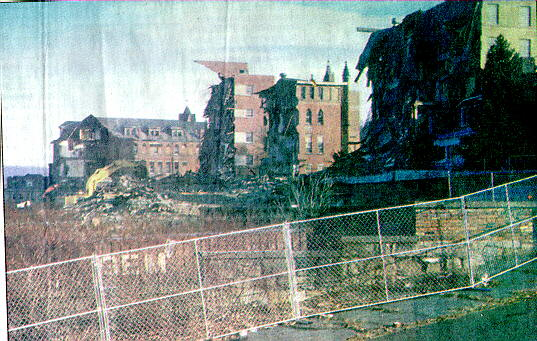 mage of the demolition of the old hospital in North Wheeling in 1997