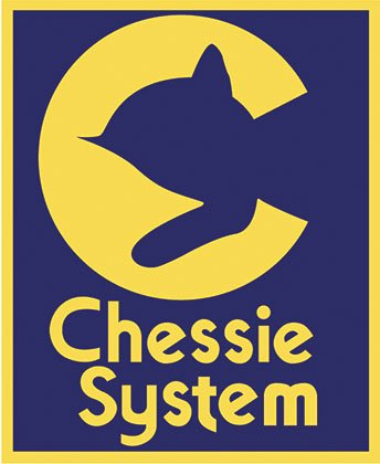 Logos like these, resplendent in C&O's iconic blue and yellow brand colors, are evidence of Chessie the Kitten's popularity--where a silhouette in Chessie's classic pose is enough to identify the brand's unmistakable mascot.