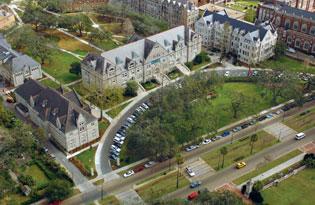Tulane University aerial view