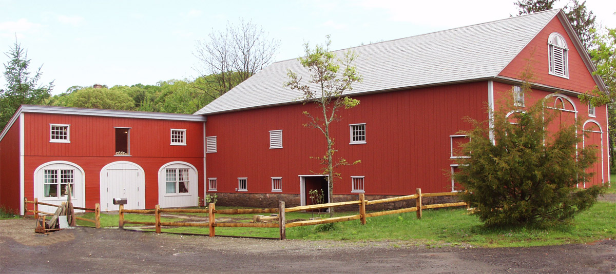 Eli Whitney barn, centerpiece of the Eli Whitney Museum and Workshop