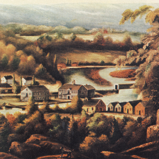 1827 painting of the Gun Factory by William Giles Munson