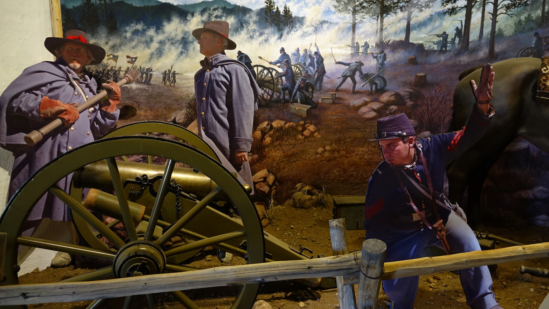 Exhibit at museum - soldiers in battle