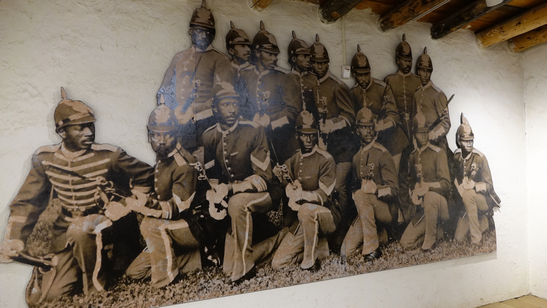 Exhibit at museum - African American soldiers
