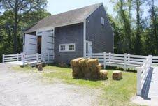 The replica barn was built in 1993