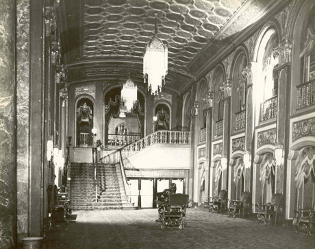 Historic photo of Loew's State Movie Palace lobby (image from PPAC official website)