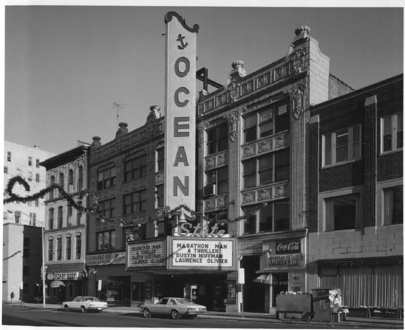 The Ocean State Theatre's Weybosset facade, 1975 (image from National Register of Historic Places nomination form)