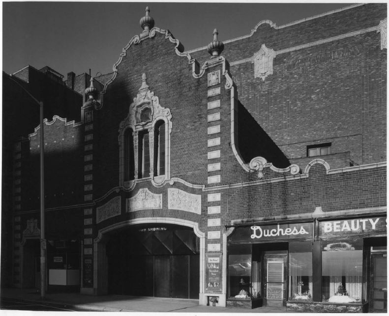 The Ocean State Theatre's Richmond Street facade, 1975 (image from National Register of Historic Places nomination form)
