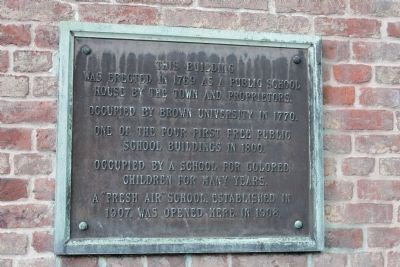 Meeting Street School historic marker, erected by the state of Rhode Island (image from Historic Markers Database)
