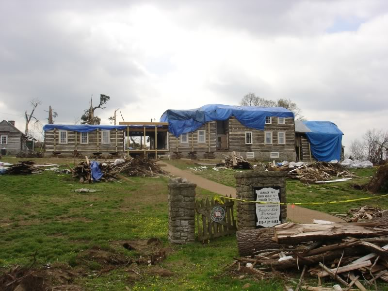 Damage to Wynnewood after the tornado of 2008.