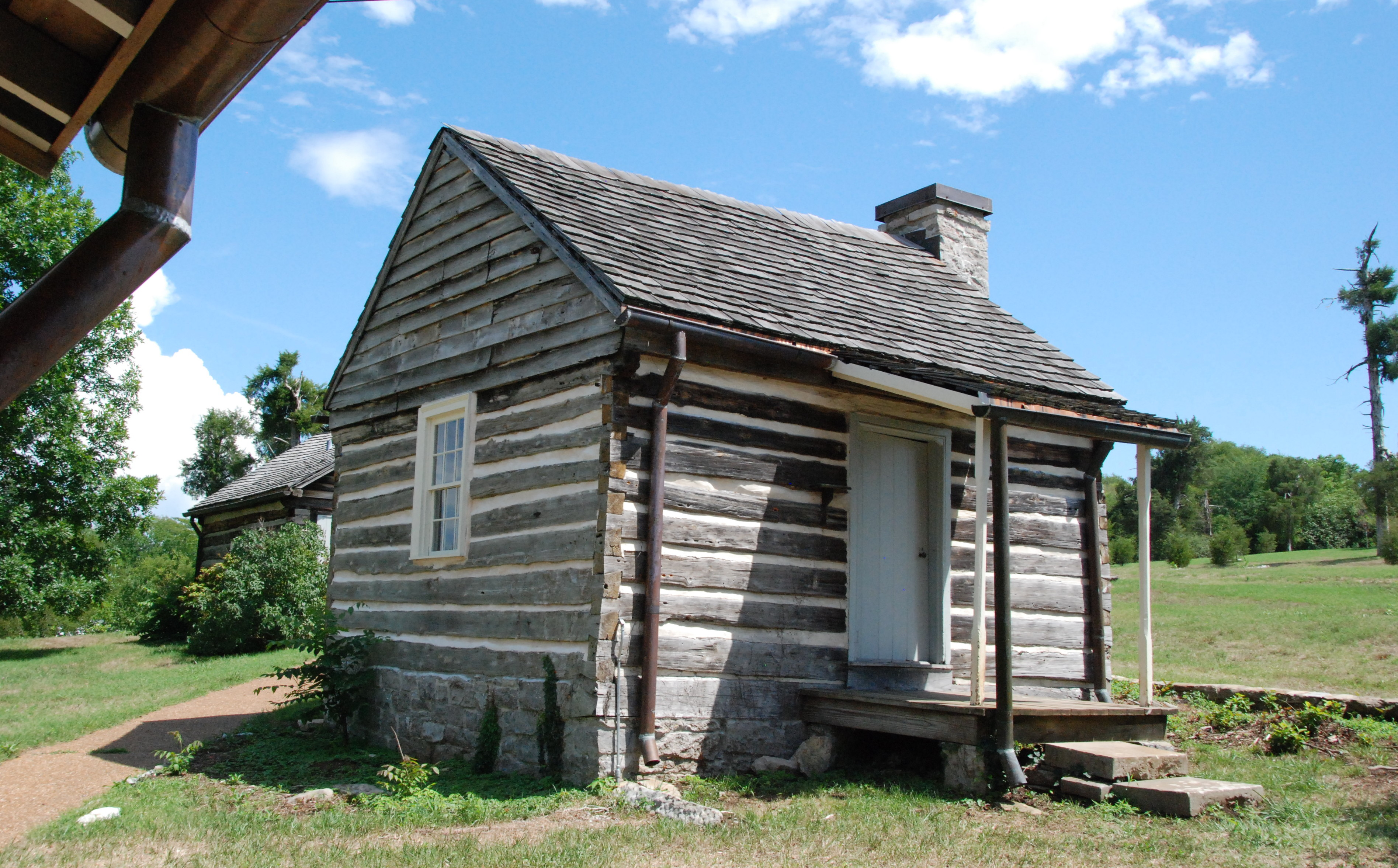 One of the few remaining outbuildings at Wynnewood.