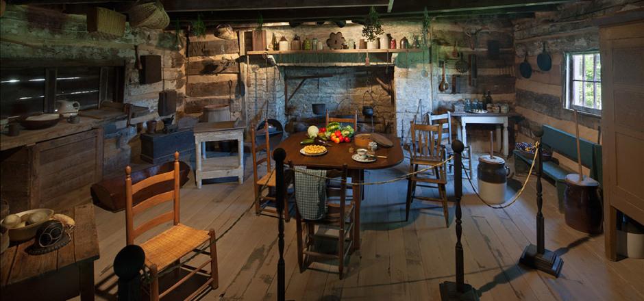 Interior period setting of Wynnewood.