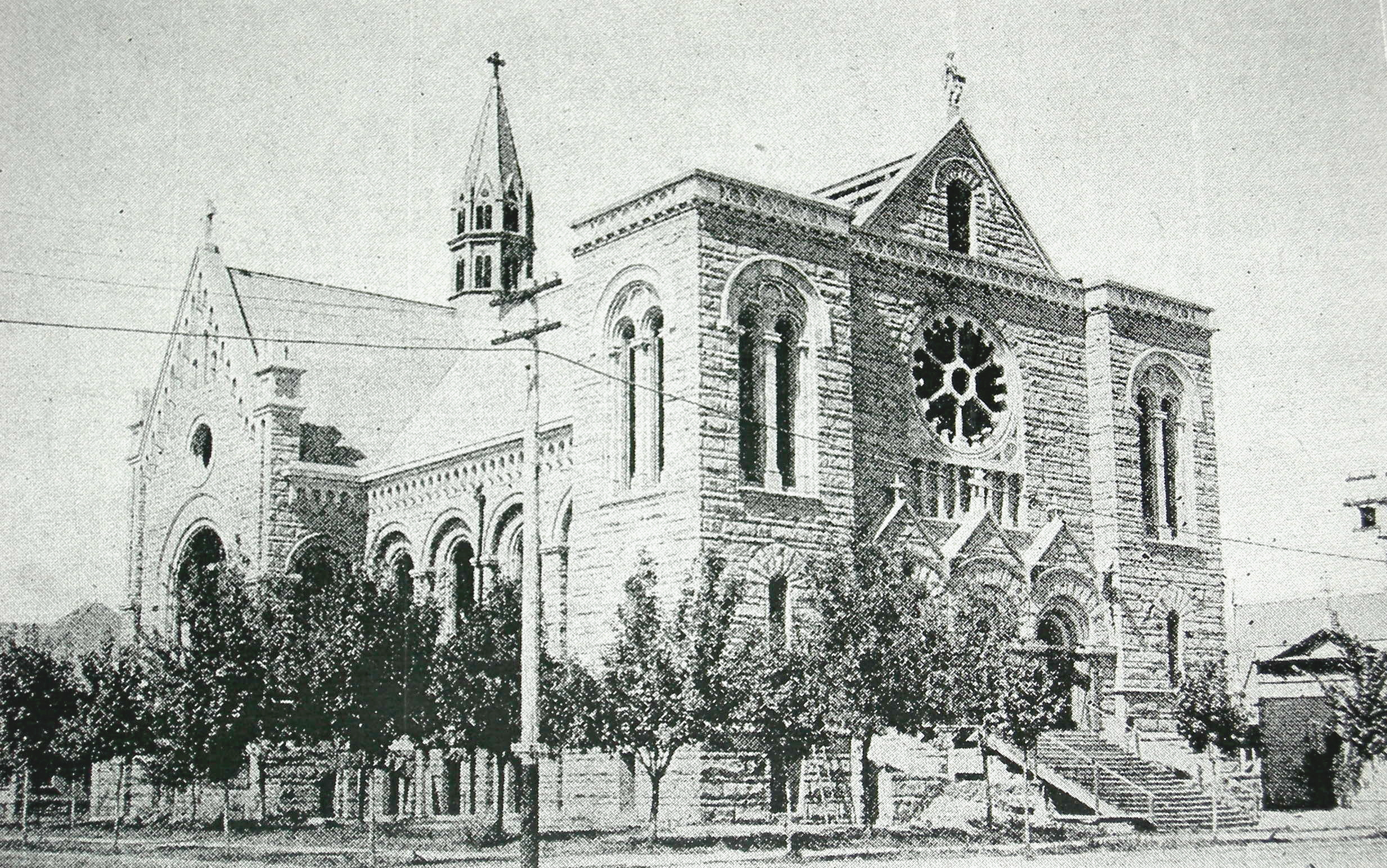 Picture taken in 1899 of the Cathedral (Wikimedia Commons)
