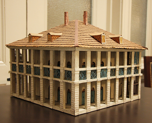 This model of the Government House was built in 1933 by the Louisiana State Museum
