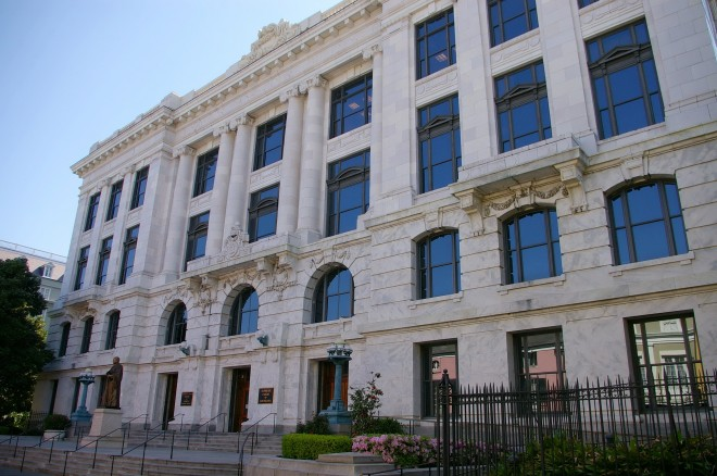 This building houses the Louisiana Supreme Court and the Fourth Court of Appeal.