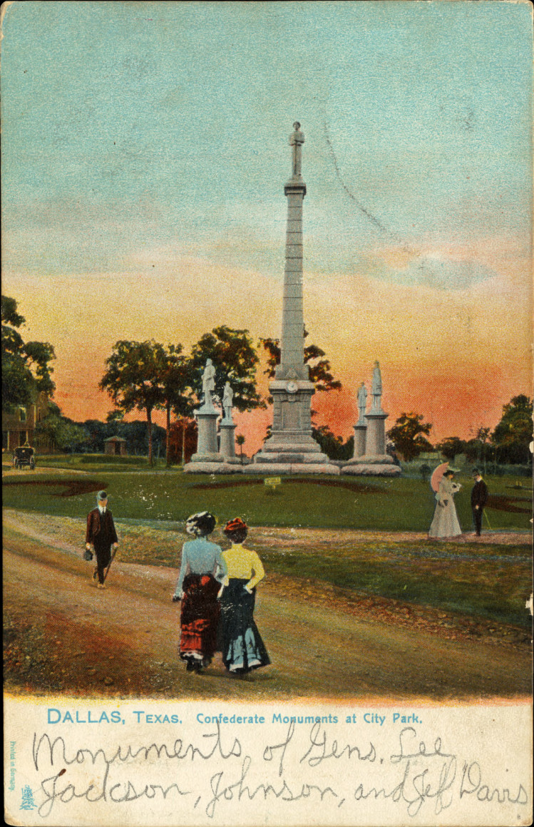 The monument as it appeared at the turn of the century