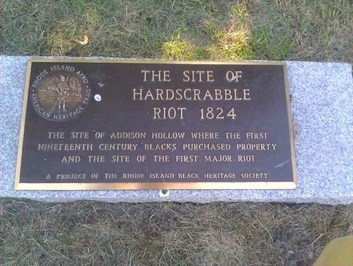 Hard Scrabble Historical Marker, located on Mill Street.