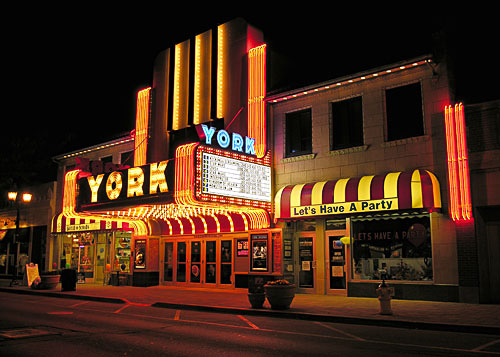 The York Theatre has been restored and continues to offer a mixture of live performances, community events, and motion pictures.