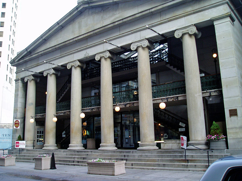 Front facade of the Arcade Providence