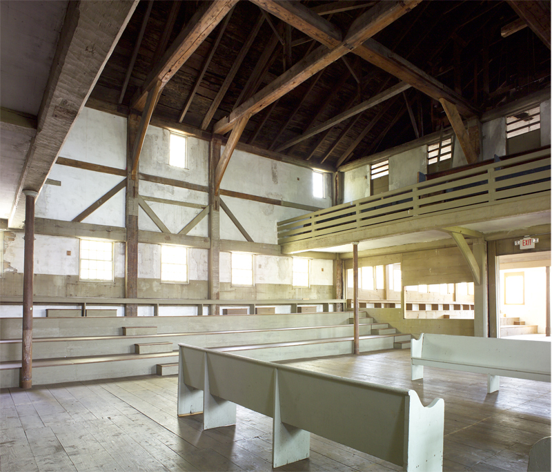 Interior of the Great Friends Meeting House