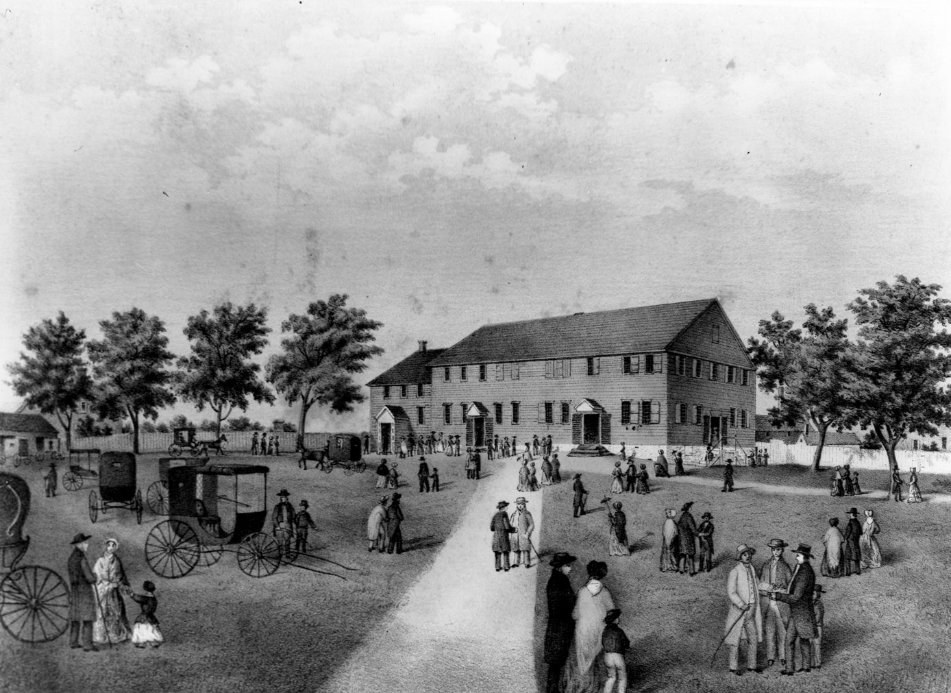 The Quaker religious house in 1850