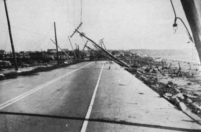 Damage in Island Park, Rhode Island