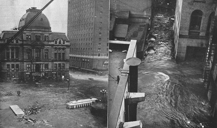 The hurricane in downtown Providence